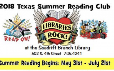 Summer  Reading Program starts soon in Seadrift!