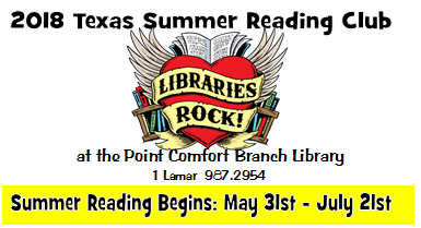 Summer Reading Program starts soon in Point Comfort!